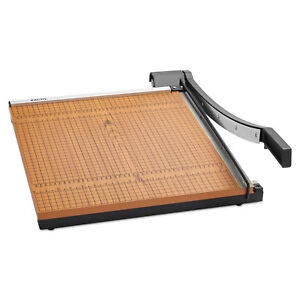 X acto Square Commercial Grade Wood Base Guillotine Trimmer 15 Sheets 18 X 18