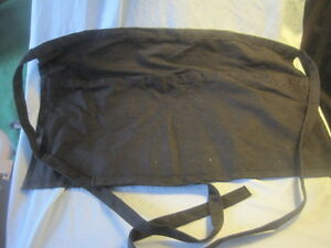 Lot Of 15 Black Waist 2 pocket Aprons 20 X 11 With 32 Ties Each Side New