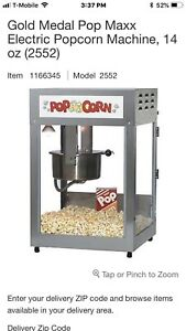 Gold Medal 2552 12 14oz pop Maxx Popcorn Machine