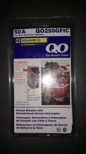 Square D Circuit Breaker Qo250gfic 2 Pole 50 Amp 120 240v 10kv Plug In