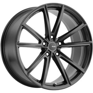 2 New 20x10 Advanti Racing 96b Torcere Black Wheels Rims 35 5x120