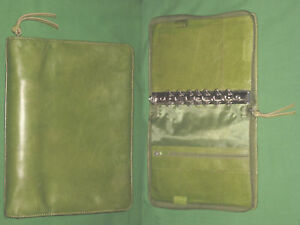 Classic 1 25 Green Unstructured Full Grain Leather Franklin Covey Planner Binder