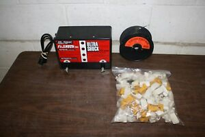 Fi shock Inc Ss 4000 Electric Fence Energizer With Wire Insulators