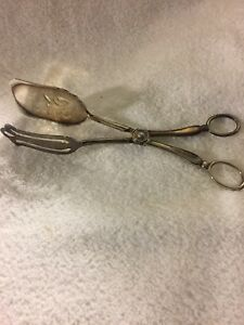 Silverplated Serving Tongs Leonard Need Cleaning