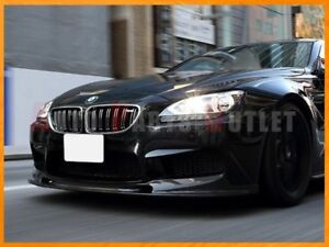 3d Type Carbon Fiber Front Bumper Add on Lip For 12 18 Bmw F06 F12 F13 M6 Only