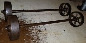 Maytag Small Engine Truck Cart 5 Wheels Axle Hit Miss Engine original
