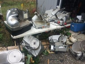 Huge Slicer Lot 15 Meat Slicers For Parts Hobart Berkel Us Slicing Univex 1712