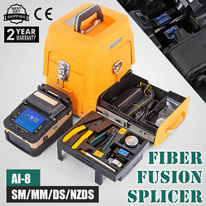 Ai 8 Fiber Optic Splicing Machine Fiber Fusion Splicer Cleaver Ribbon Kits