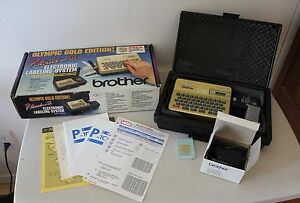 Brother P touch Iii Electronic Labeling System Olympic Gold Edition 1992 s45
