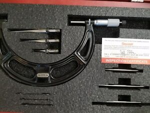 Starrett 224 0 6 Micrometer Set With Anvils And Mic Standards And Case