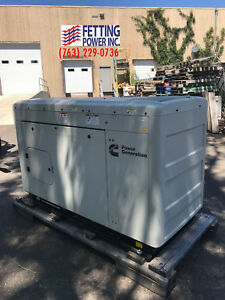 New 25kw Cummins Natural Gas Stationary Standby Generator C25 n6 120 240v