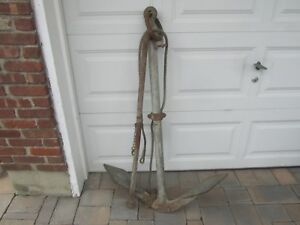 Antique Large Ships Boat Anchor 51 High