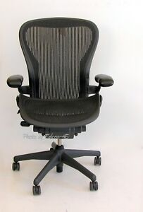 Herman Miller Aeron Mesh Ergonomic Office Task Chair Sz B Medium 9