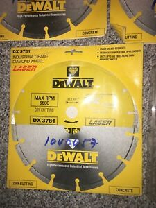 Dewalt Concrete And Marble Saw Blades Set Of 7 Unopened In Original Packaging