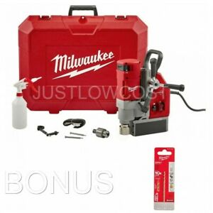 Milwaukee 13 Amp 1 5 8 In Electromagnetic Drill Kit Optimized Cutting Corded