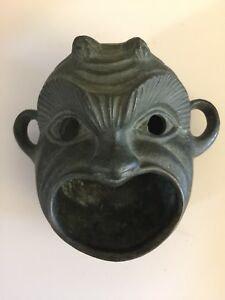 Antique Chinese Bronze Brass Monkey Censer Incense Burner