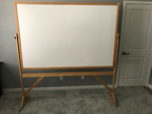 72 X 48 Reversible White Dry Erase Whiteboard Cork Board With Easel And Casters
