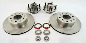 Mustang Ii Big 12 Disc Brake Rotors 4 50 4 75 Bolt Pattern With Bearing Kit