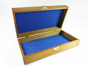 Refinished Antique Solid Maple Storage Document Jewelry Box With Felt Lining