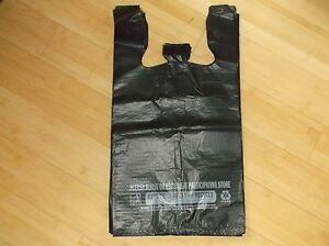 299 Ct plastic Shopping Bags Black Grocery Store Bags standard Size 1 6