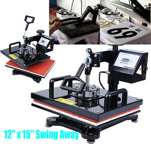 12 x15 Digital Heat Press Machine T shirt Sublimation Swing Away Transfer