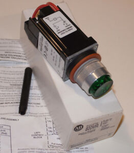 New Allen bradley 800mr pt16gs Push To Test Switch A b Round Green Pilot Light
