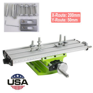 New Worktable Milling Working Sliding Table X Y Axis Bench Vise Drill Machine Us