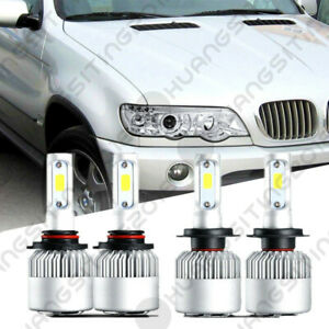 For 2001 2003 Bmw X5 Projector Headlights Led Lamps High Low Bulbs 4pc Us Ship