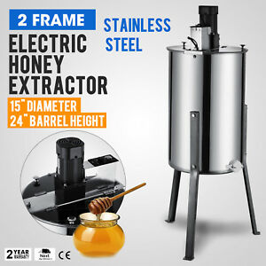 Large 2 Two Frame Stainless Steel Honey Extractor Beekeeping Equipment 24