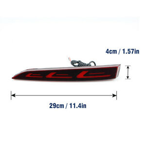 For Hyundai Solaris Accent 2017 2018 Red Led Rear Bumper Tail Brake Light Lamp