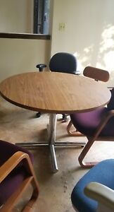 36 Round Conference Meeting Table By Versteel W Laminate Top