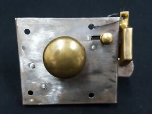 Antique Cast Iron And Brass Metal Lock