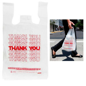 700 X Retail Plastic Bags Thank You Grocery Bag Supermarket Shopping Recyclable