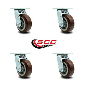 Scc 5 Poly On Polyolefin Wheel Swivel Casters Non Marking Set Of 4