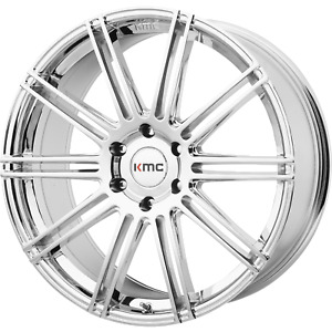 Kmc Channel Chrome 20x9 6x139 70 30mm Wheels
