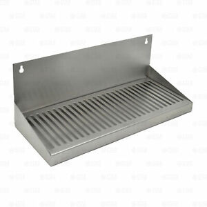 16 Hanging Door Mount Draft Beer Drip Tray Removable Grate Stainless