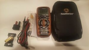 Southwire 14070t True Rms Multimeter W leads Case Etc New Out Of Package