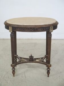 F29496c Vintage French Louis Xv Style Marble Top Lamp Table