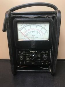 Vintage Volt ohm milliammeter Not Tested Simpson Model 260 Series 5