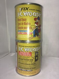 Pc Products Pc woody Two part Wood Repair Epoxy Paste 48 Oz In Two Cans