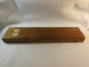 Sorensen The Center mike 8 Hole Location Gage W Original Wood Case