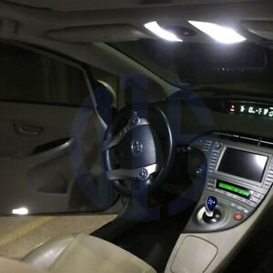 10 X White Led Interior Bulbs Lights Package For 2010 2018 Toyota Prius