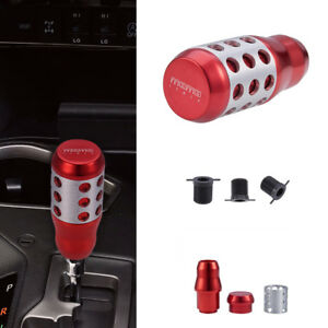 Universal Alloy Aluminum Manual Automatic Car Gear Stick Shifter Shift Knob Red