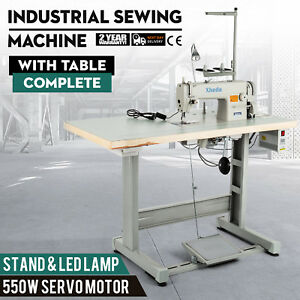 Sewing Machine With Table servo Motor stand led Lamp Tool Mechanical Complete