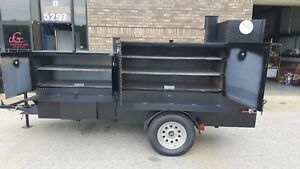 Bbq Smoker 48 Barn Door Grill Trailer Food Truck Mobile Cart Catering Business
