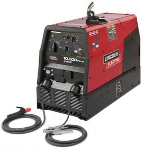 Lincoln Electric 225 Amp Eagle 10 000 Plus Gas Engine Driven Welder W stick Kw