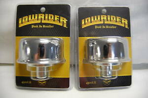 Lot Of 2 Spectre 4300 Lr Valve Cover Breather Vent Filter Chrome