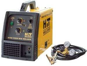 Hit 140 Amp Advanced 6 Ft Mig 120v Welder Torch With Regulator 24 Gauge pass