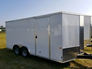 New Rock Solid 8 5x16 Enclosed Cargo Trailer With Free Upgrades 5yr Warranty