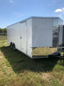 New 8 5x20 Enclosed Cargo Trailer Car Hauler With Free Upgrades 5yr Warranty